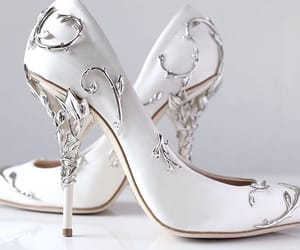 fashion, shoe, and silver image