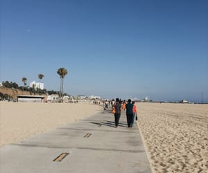 aesthetic, santa monica, and sky view image