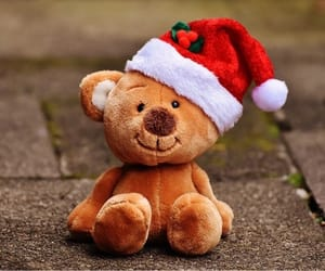 christmas, teddy, and cute image