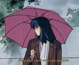anime, aesthetic, and rain image