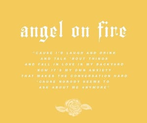 angel, fire, and halsey image