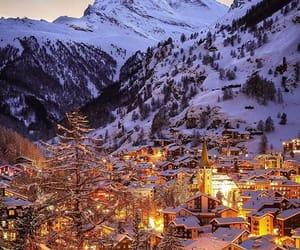 winter, snow, and lights image