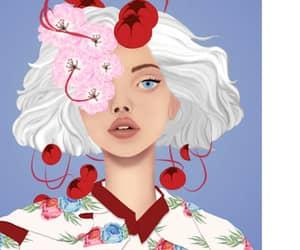 artwork, illustration, and blossom image