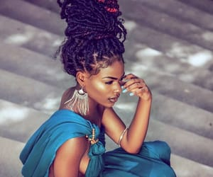 beauty, women, and locs image