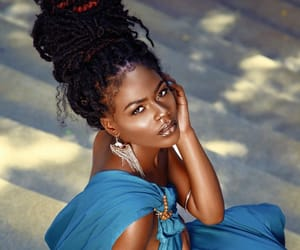 beauty, women, and faux locs image