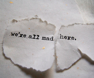 alice in wonderland, type, and mad image