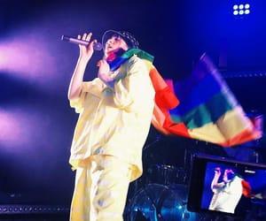billie, concert, and flag image