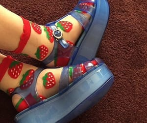 shoes, socks, and strawberry image