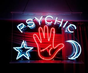 aesthetic, neon, and psychic image