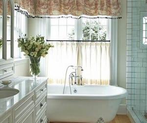 bathroom, decorating, and farmhouse style image