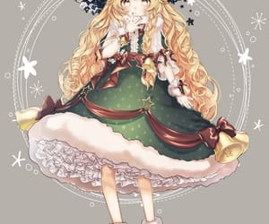 anime girl, christmas, and marisa kirisame image