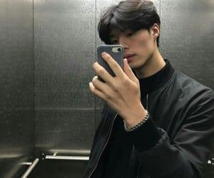 boy, korean, and mirror image