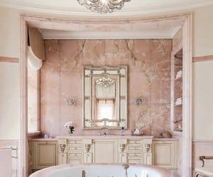 bath, flowers, and interior image