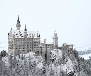 castle, snow, and travel image