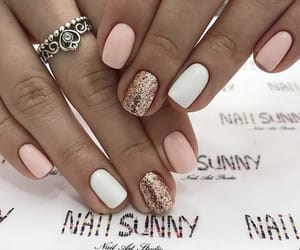 crown, glitter, and manicure image