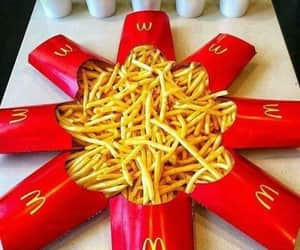food, fries, and potato image