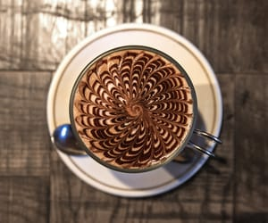 chocolate, coffee, and latte art image