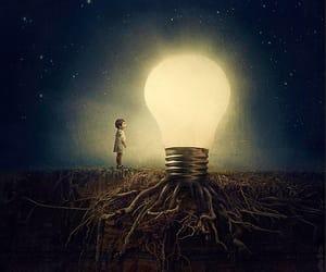 light, art, and night image