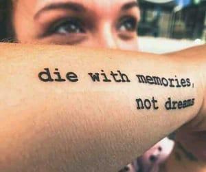 dreams, memories, and tattoo image