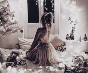 christmas, girl, and decoration image