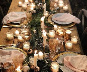 candles, decoration, and dining image