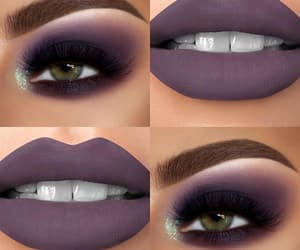 makeup, purple, and perfect image