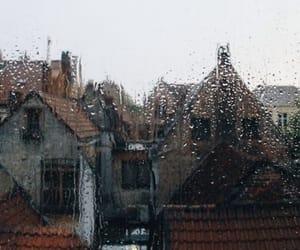 rain, autumn, and window image