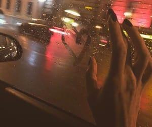 heart, rain, and love image