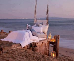 beautiful, bed, and ocean image