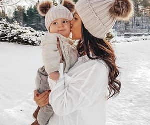 baby, beauty, and cold image