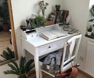 plants, room, and book image