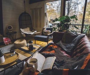 home, book, and coffee image