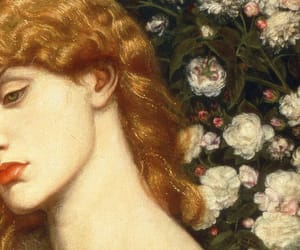 art, flowers, and hair image