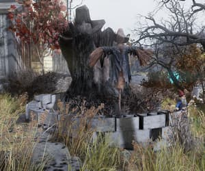 fallout, overgrown, and scarecrow image