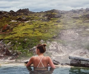 cool, iceland, and swim image