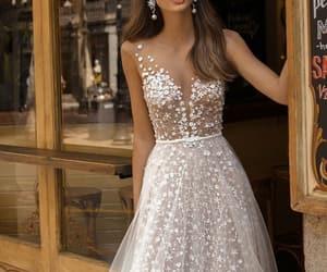 dress, white, and princess image
