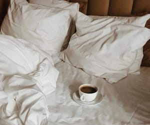 coffee, bed, and aesthetic image