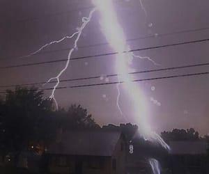purple, lightning, and pale image