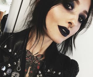 goth, makeup, and tattoo image