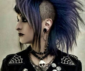 black, dark, and goth punk image