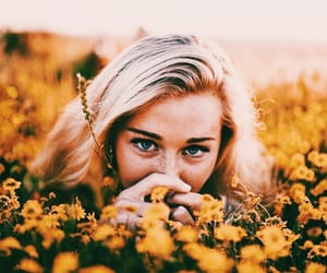 bloom, flowers, and girl image