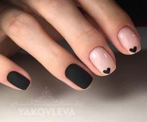 nails, black, and heart image