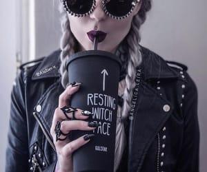 braid, grunge, and leather jacket image