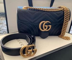 bag, belt, and black image