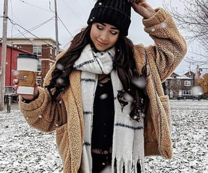 snow, winter, and winter outfit image