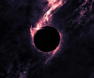 space, black, and universe image