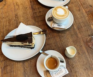 autumn, cake, and coffee image