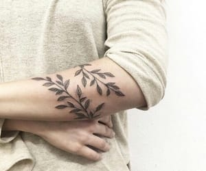 tattoo, leaves, and ink image