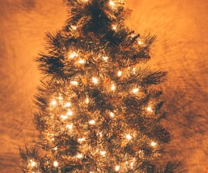 background, christmas, and gold image