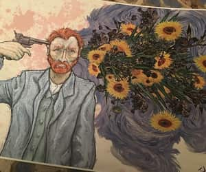 art, van gogh, and flowers image